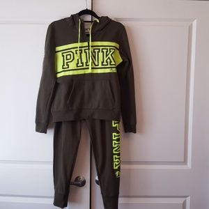 "PINK sweatsuit ""priced to sell"""